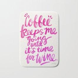 Coffee & Wine – Pink Ombré Bath Mat
