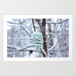Snowfall at Brickworks on Christmas Day, 2020. LXXIV Art Print