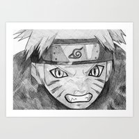 naruto Art Prints featuring Naruto by DeMoose_Art