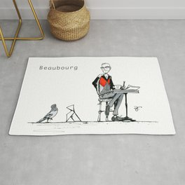 A Few Parisians: Beaubourg by David Cessac Rug