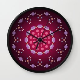 Little Purple Balls Wall Clock
