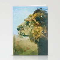 lion Stationery Cards featuring Lion by Esco