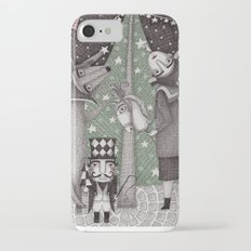 Of Snow and Stars and Christmas Wishes iPhone 7 Slim Case