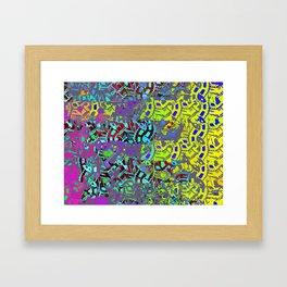 digital clockwork Framed Art Print