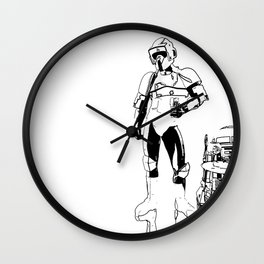 The real dark side - Cocktails Wall Clock
