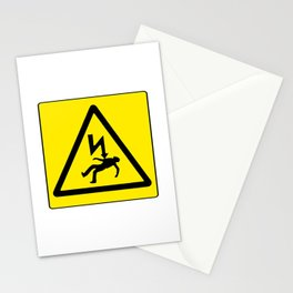 Danger Electricity Stationery Cards