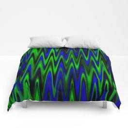 WAVY #1 (Blues & Greens) Comforters
