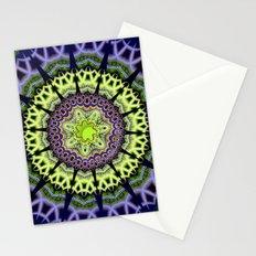 Groovy crackles patterns mandala Stationery Cards