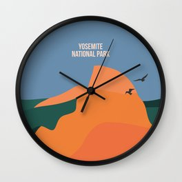 Limitless Boundaries In The Yosemite National Park Wall Clock