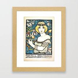 Paul Berthon Salon Des Cent Vintage Art Nouveau Framed Art Print