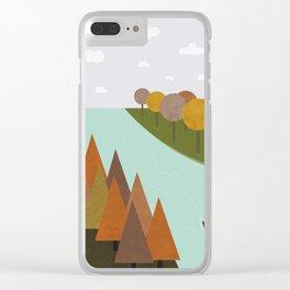 Autumn colours Clear iPhone Case