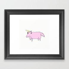 the best unicorn in the world Framed Art Print