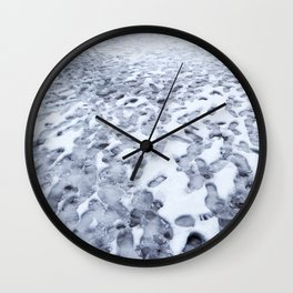 Footprints in the Melting Snow at Whistler Wall Clock