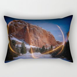 Light on the Garden of the Gods Rectangular Pillow