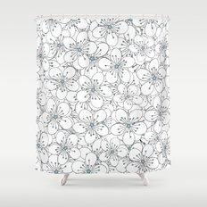 Cherry Blossom Blue - In Memory of Mackenzie Shower Curtain