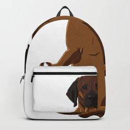 Meditating Hanoverian Hound Dog Backpack