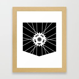 Wheel Pocket invert Framed Art Print