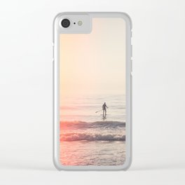 Vintage Paddler Clear iPhone Case