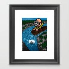La chute Framed Art Print