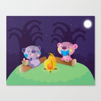 camping Canvas Prints featuring Camping by Maria Jose Da Luz