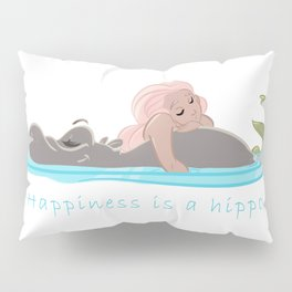 Happiness is a Hippo Pillow Sham
