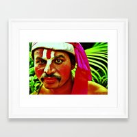 actor Framed Art Prints featuring The Ramayana Actor by Gafoor
