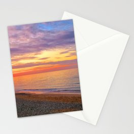 Comer Beach at Sunset Stationery Cards