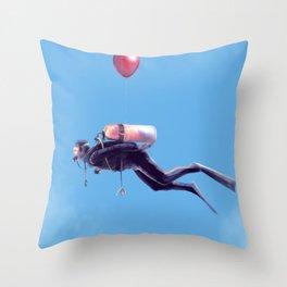 Scuba Sky Throw Pillow