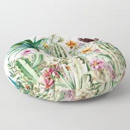 Blooming in the cactus Floor Pillow