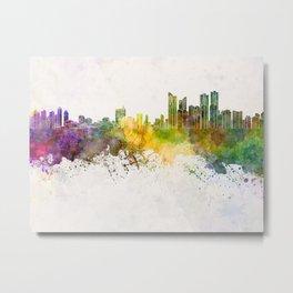 Busan skyline in watercolor background Metal Print