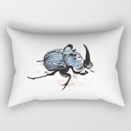Amazonian Scarab Beetle Rectangular Pillow