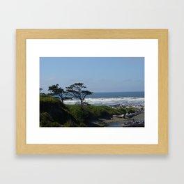 Washington coast Framed Art Print