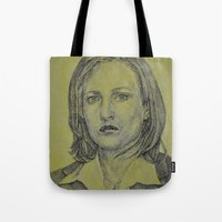 scully Tote Bags featuring Scully by Jenn