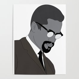 Malcolm X. By Any Means. Poster. Print. Case Poster