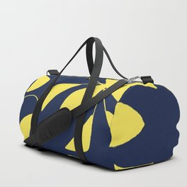 Leafy Vines Yellow and Navy Blue Duffle Bag