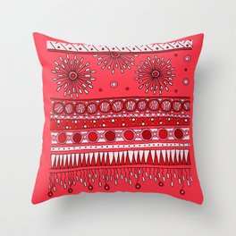 Yzor pattern 007-3 pink Throw Pillow