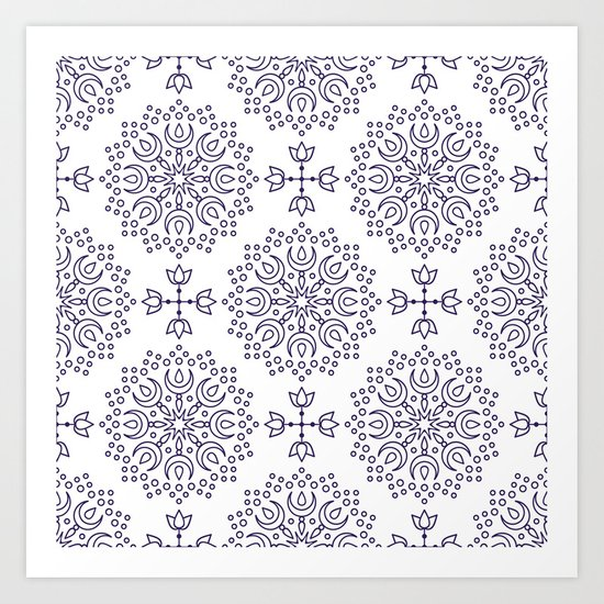 simple mandala Art Print