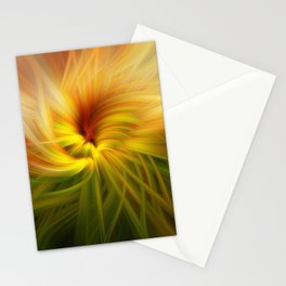 Sunflowers Twirled Stationery Cards