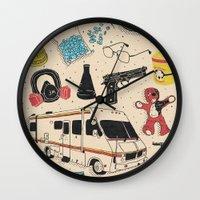 breaking Wall Clocks featuring Artifacts: Breaking Bad by Josh Ln