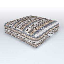 Boho dogs   Ceskoslovensky vlcak tan Outdoor Floor Cushion