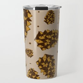pine cones. abstract pattern of pine cones and nuts Travel Mug