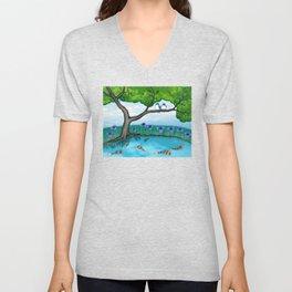 the pond Unisex V-Neck