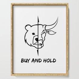 Bearish t shirt a funny stocks bear money present Serving Tray