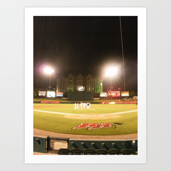 Take me out to the ball game Art Print