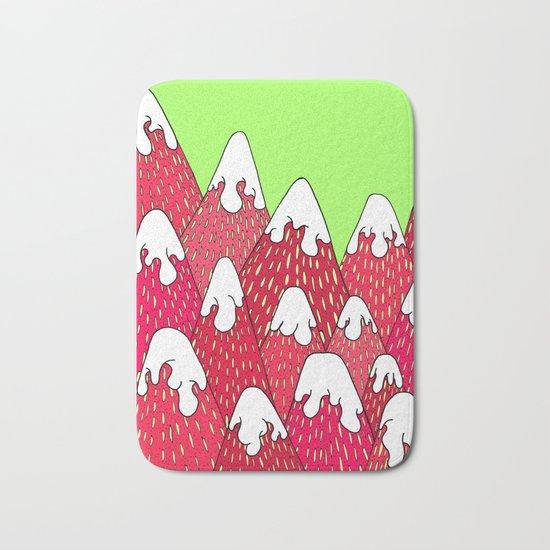 Strawberry Mountains Bath Mat