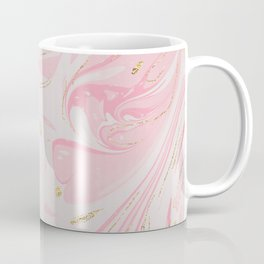 Elegant blush pink gold yellow abstract watercolor marble Coffee Mug