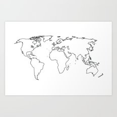 WORLD II Art Print