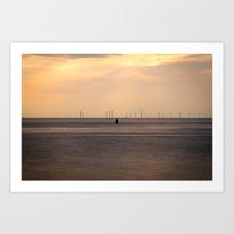 Wind Silhouette Art Print