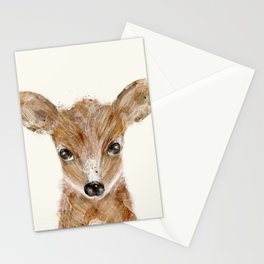 little deer fawn Stationery Cards