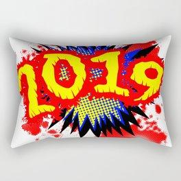 2019 Comic Exclamation Rectangular Pillow